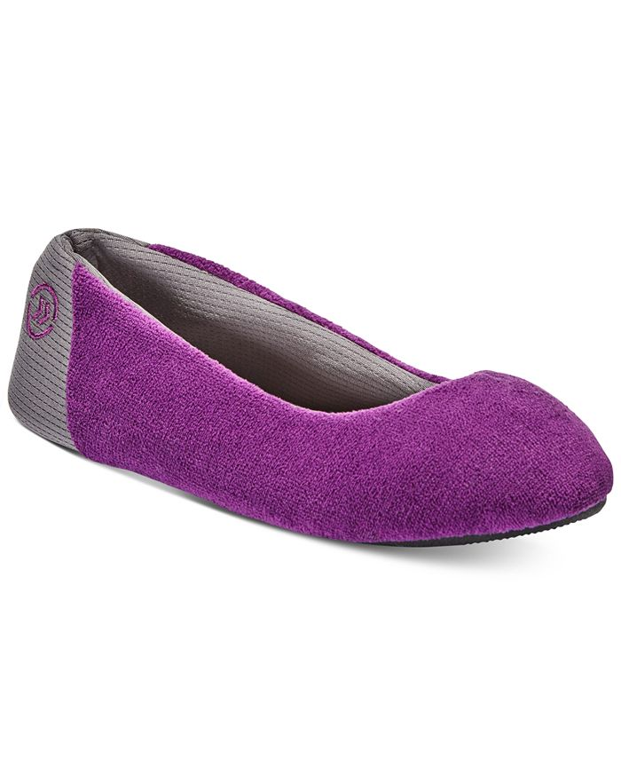 Isotoner Signature - Women's Microterry Mesh Ballet Slippers