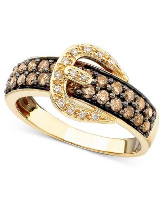 Le Vian Chocolate Diamond Buckle Ring
