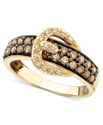 Le Vian 14k Gold Chocolate & White Diamond Ring (3/4 ct. t.w.)