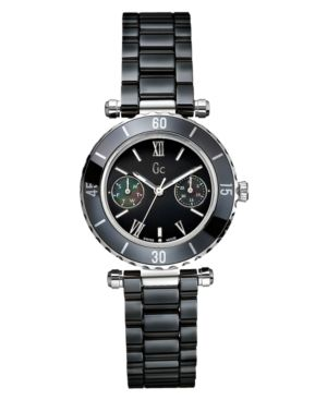 Gc Swiss Made Timepieces Watch, Women's Black Ceramic Bracelet G35003L2