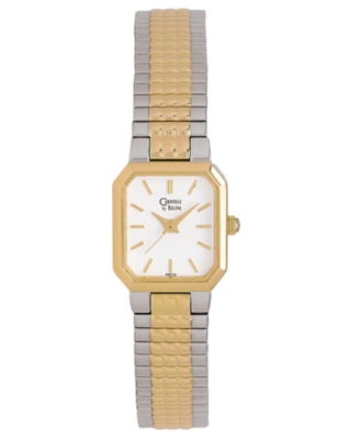 Caravelle by Bulova Watch, Women's Two Tone Bracelet 46E32