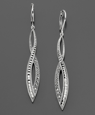 Judith Jack Sterling Silver Marcasite Earrings