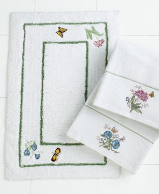 Lenox Bath Accessories, Butterfly Meadow Shower Curtain - - Macy's