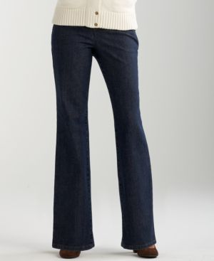 Charter Club Wide-Leg Trouser-Style Jeans, Diamond Wash