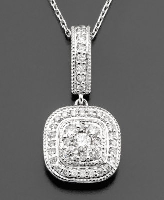14k White Gold Diamond Pendant (1/2 ct. t.w.)
