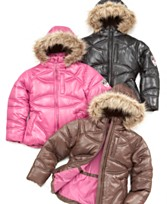 Little Girls Faux-Fur Hood Jacke