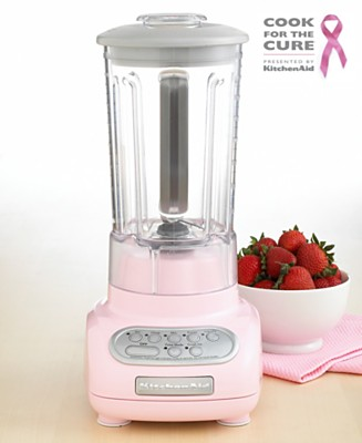 KitchenAid KSB560PK 5 Speed Blender Cook for the Cure Edition Electrics Kitchen Macy s from macys.com