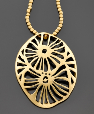 Kenneth Cole New York Goldtone Filigree Pendant
