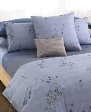 "Calvin Klein ""Bamboo Flower"" Full/Queen Duvet Cover Bedding"