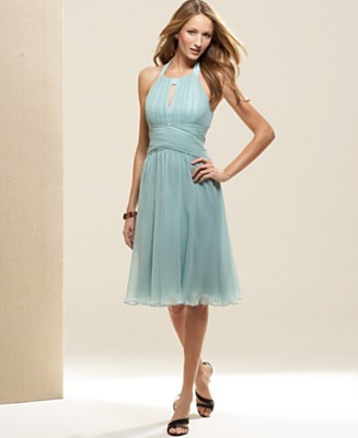 Anne Klein Silk Halter Dress - Dresses - Women's - Macy's from macys.com