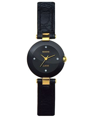 Rado Watch Coupole Jubile Black Leather Strap R22829715