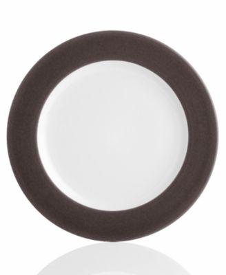 "Noritake ""Colorwave Chocolate Rim"" Dinner Plate"