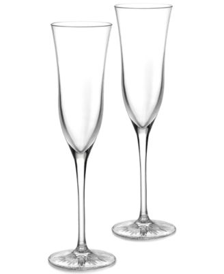 Waterford Stemware, Waterford Clear Toasting Flutes, Set of 2