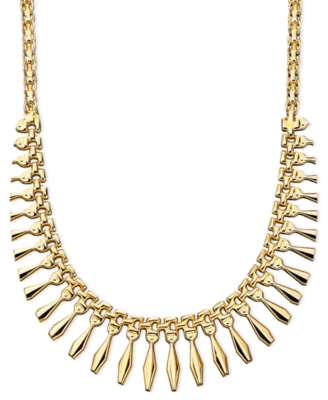 14k Gold Small Graduated Cleo Necklace