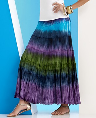 INC International Concepts® Tiered Tie-Dyed Maxi Skirt - Skirts - Women's  - Macy's