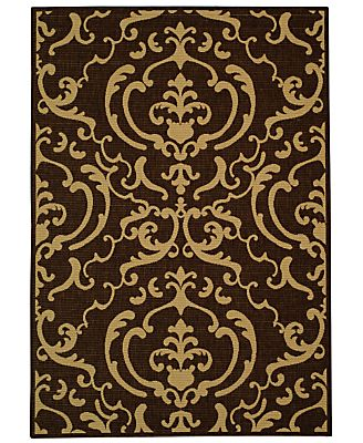 "MANUFACTURER'S CLOSEOUT! Safavieh Area Rug, Courtyard Indoor/Outdoor CY2663-3409 Chocolate/Natural 2' 7"" x 5'"