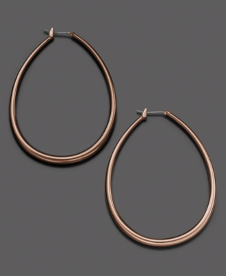 Fossil Mixed Metal Tube Hoop Earrings