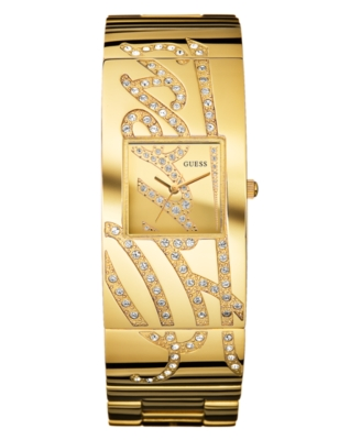 GUESS Watch, Women's Goldtone Mixed Metal Bracelet U15045L1