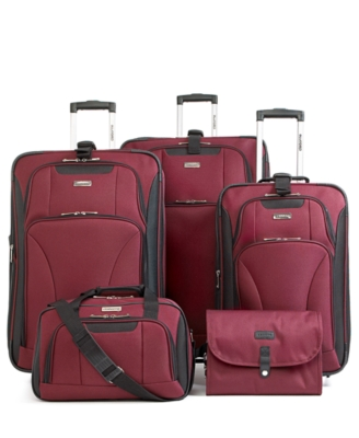 Claiborne Metro Rail 5-Piece Luggage Set - Travel Bags