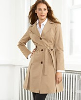 DKNY Raincoat, A-Line Trench