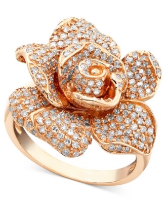 14k Rose Gold Diamond Ring (1-1/8 ct. t.w.)
