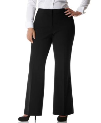 DKNYC Plus Size Broome Straight-Leg Pants
