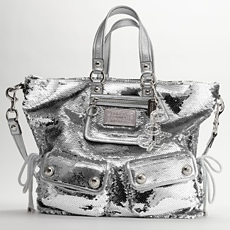 COACH POPPY SEQUIN SHOULDER BAG - Poppy Handbags - COACH  - Macy's