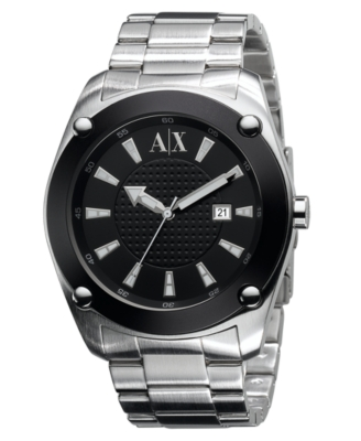 AX Armani Exchange Watch, Men's Stainless Steel Bracelet AX1053