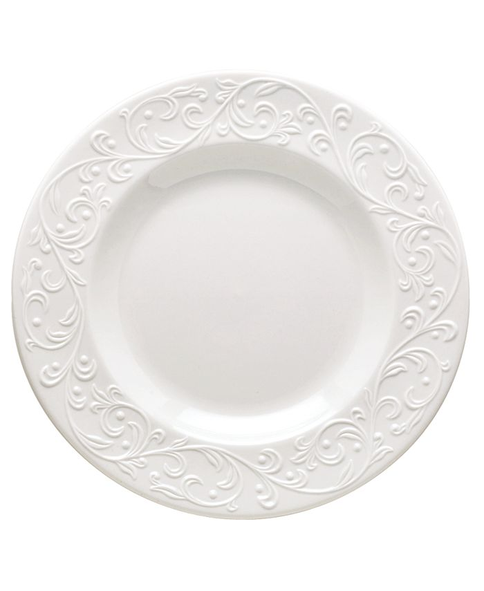"""Lenox - """"Opal Innocence Carved"""" Accent Plate"""