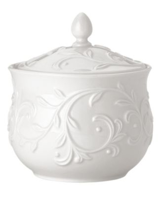 Lenox Dinnerware, Opal Innocence Carved Sugar Bowl