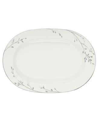 "Noritake Serveware, 14"" Birchwood Oval Platter"
