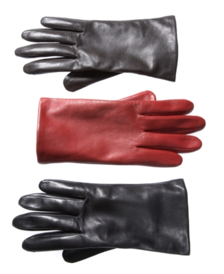 Charter Club Gloves, Fleece Lined Leather