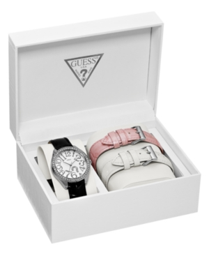 GUESS Watch, Women's Interchangeable Leather Strap Set 37mm U95096L1