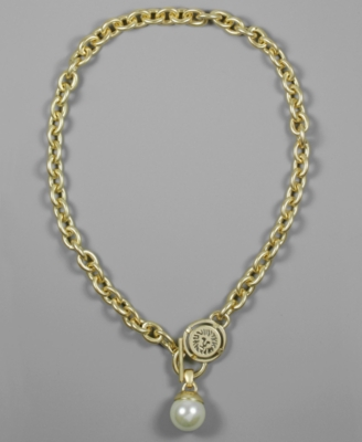 AK Anne Klein Necklace, Glass Pearl