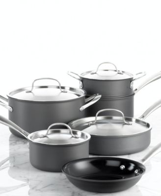 CLOSEOUT! Cuisinart Green Gourmet Ceramic 10 Piece Cookware Set