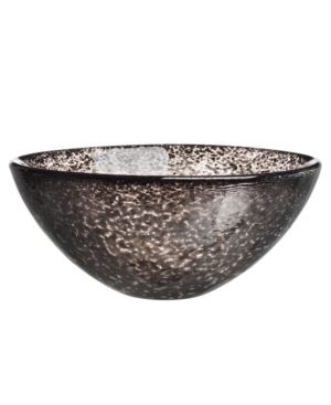 Kosta Boda Crystal Bowl, Tellus Black Small