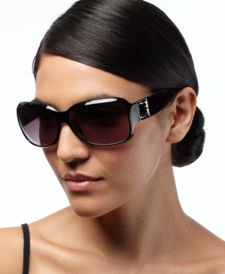 Liz Claiborne Sunglasses, Dorothy Square with Metal Detail