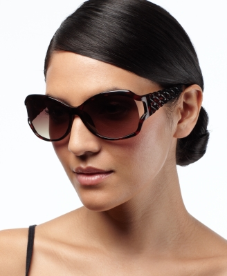 Nine West Sunglasses, Oval with Vented Lenses and Woven Temple