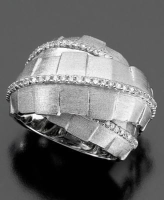 Sterling Silver Ring, Diamond Wrap (3/8 ct. t.w.)