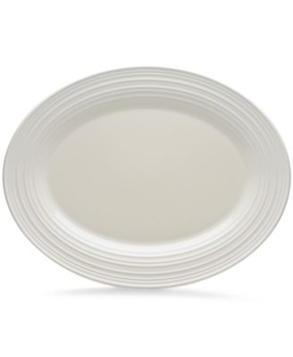 Mikasa Dinnerware, Swirl White Oval Platter