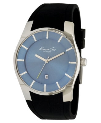 Kenneth Cole New York Watch, Men's Black Silicone Strap KC1612