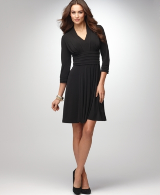 Alfani Dress, V-Neck Empire Waist