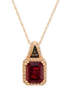 Le Vian 14k Rose Gold Pendant, Garnet (3-5/8 ct. t.w.) and Diamond (1/8 ct. t.w.)