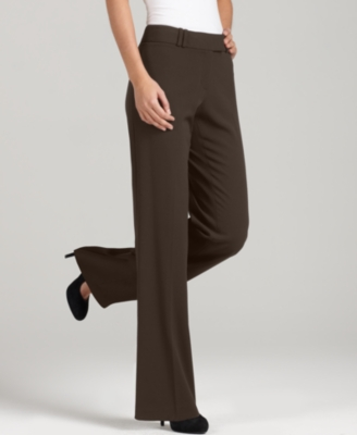 Style&co. Petite Pants, Boot Cut, Brown