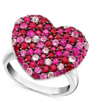 Effy Collection Sterling Silver Ring, Pink Sapphire (1-5/8 ct. t.w.) and Ruby (1-5/8 ct. t.w.)