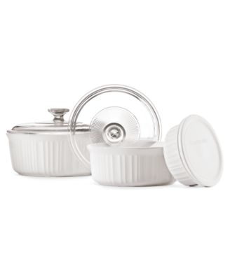 Corningware French White 6 Piece Bakeware Set