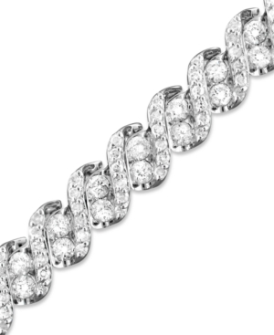 Diamond Bracelet, 14k White Gold Diamond Twist (5 ct. t.w.)