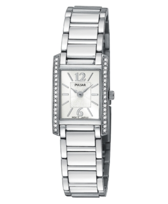 Pulsar Watch, Women's Stainless Steel Bracelet PEGC51