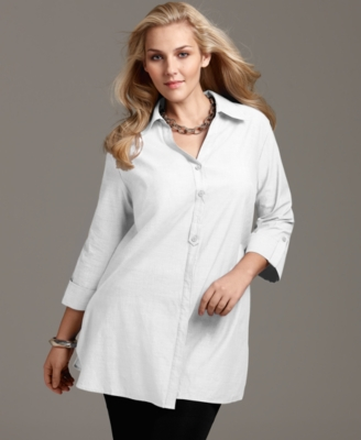 Style&co. Plus Size Shirt, Rolled Sleeve Tunic
