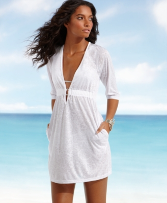 Kenneth Cole Reaction Cover Up, Burnout Tunic Dress Women's Swimsuit